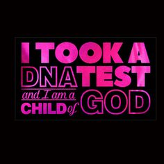 Faith, I took a DNA test and I am a child of GOD - Metallic, Plain or Glitter Vinyl Bling on Black Shirt - Contact for Shirt & Vinyl Color