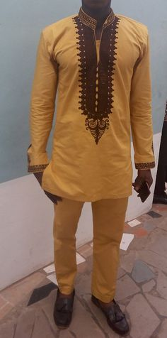 This are beautiful African men`s wears fit for all occasion.This unique out fits make you stand out of the crowd. We make to order accepting African Attire For Men, African Clothing For Men, African Shirts, African Print Fashion, Africa Fashion, African Wear, African Dress, African Style, Trendy Fashion