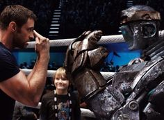 NEW movie - Real Steel is a 2011 American science fiction sports drama film starring Hugh Jackman and Dakota Goyo, co-produced and directed by Shawn Levy for. Best Action Movies, Hd Movies, Movies Online, Movies And Tv Shows, Movie Tv, Fiction Movies, Movies Free, Hugh Jackman, Evangeline Lilly