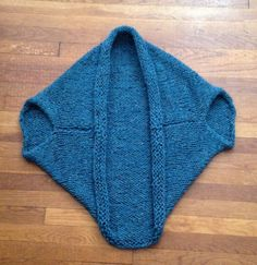 Quick and Easy Shrug Cocoon Sweater Blanket Free Knitting Pattern