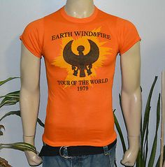 RaRe-1979-EARTH-WIND-FIRE-vtg-r-b-soul-funk-disco-concert-shirt-S-70s-MINT