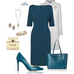 Teal by dmiddleton on Polyvore featuring L.K.Bennett, Prada, One Off, Alexander McQueen, Accessorize and Dolce&Gabbana