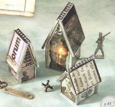 Soldered houses: Sally Jean Imagine a row of these, lit with voices as a Christmas village.