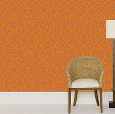 wallpaper. orange.