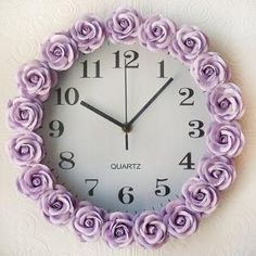 Purple roses clock by bai xiangqian