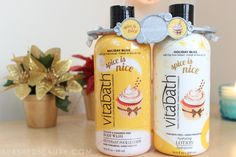 """""""Vitabath is notorious for their nourishing body washes, free from sulfates and parabens. Each one I have tried has a luscious lather and effectively moisturizes the skin, leaving it extra soft. The Spice is Nice body wash is no exception, containing vitamins A, B3, B5, C, E & goji berry extract, all which help soothe, protect and repair the skin. You're never left with tight skin after using Vitabath body washes, which is incredibly important to me— especially during winter."""""""