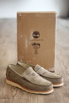 a3aa0f33d2d Stussy Deluxe x Timberland Leather Loafers