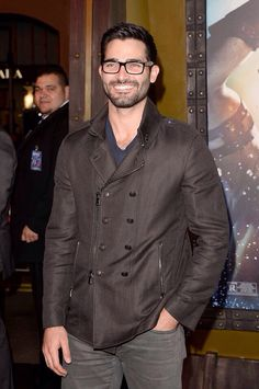 Tyler Hoechlin  I ACTUALLY WANT A FEMALE VERSION OF THAT JACKET.