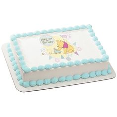 Winnie the Pooh Little One on the Way PhotoCake® Image, Baby Shower Cake Ideas