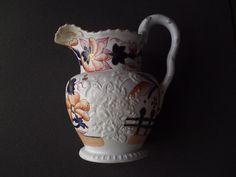 John & Richard Riley English porcelain Imari style jug / pitcher c1825