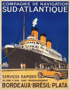 Compagnie De Navigation Sud-Atlantique by Hook (George Taboureau), Sandy 1928