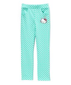 Look what I found on #zulily! Cockatoo Polka Dot Hello Kitty Skinny Jeans - Toddler & Girls #zulilyfinds