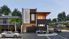 250 yards house designed for client at ludhiana. Villa Design, Modern House Design, Lobby Interior, Office Interior Design, Exterior Design, Facade Design, Independent House, Corner House, House Elevation