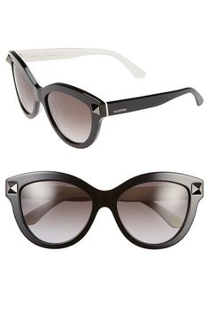 99258abe2a Free shipping and returns on Valentino  Rockstud  58mm Cat Eye Sunglasses  at Nordstrom.