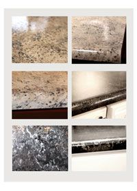 Painting Laminate Countertops To Look Like Stone Might Do This In