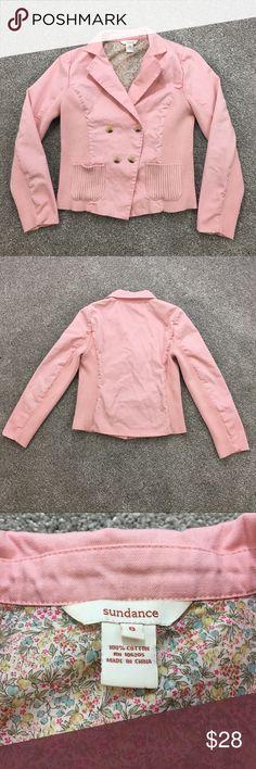 Sundance Blazer Pink Sundance blazer with front pockets, size 8. Sundance Jackets & Coats Blazers