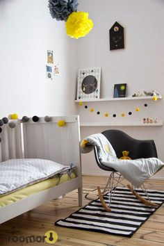 Check out Part 5 in our collection of 10 Lovely Little Boys Rooms! Be inspired by these gorgeous rooms fit for a little king! Grey Boys Rooms, Yellow Kids Rooms, Little Boys Rooms, Yellow Bedrooms, Boys Bedroom Decor, Kid Spaces, Room Colors, Boy Room, Room Inspiration
