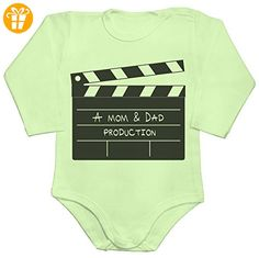 A Mom And Dad Production Baby Romper Long Sleeve Bodysuit Extra Large - Baby bodys baby einteiler baby stampler (*Partner-Link)
