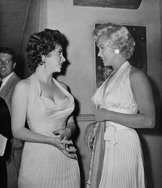 Gina Lollobrigida and Marilyn Monroe