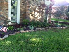 Low sun side of front yard