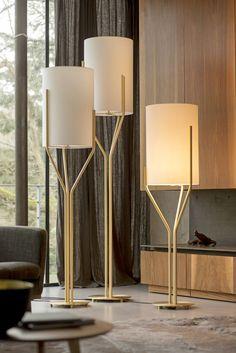 Mid Century Danish Modern Teak Pottery Table Lamp