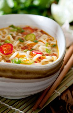 Thai Curry Pumpkin Noodle Soup       #recipe #vegan
