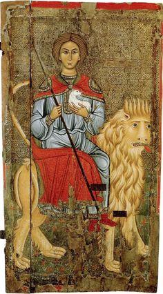 """Η αρχαιότερη στον κόσμο (13ος αιώνας) φορητή εικόνα του Αγίου Μάμαντος βρίσκεται στην εκκλησία """"Παναγία Καθολική"""" στο Πελένδρι της Κύπρου."""