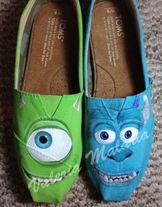 Monsters TOMS shoes by ValeriaMalariaArt on Etsy, $135.00