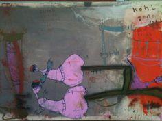 """""""Beichtstuhl"""", MT auf Leinen, 110 x 170 cm, 2010"""