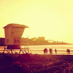 Beach light skies of California