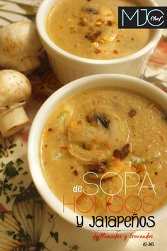 Mushrooms and Jalapeños Soup (#62) #jalapenopeppers #mushrooms #cream #soup