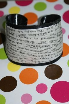 Recycle an old record album into a cool cuff bracelet!