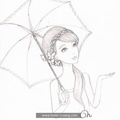 CQcat Exclusive: 100 Sketches Part 2 Disney Drawings Sketches, Girl Drawing Sketches, Art Drawings Sketches Simple, Girly Drawings, Art Drawings Beautiful, Princess Drawings, Pencil Art Drawings, Easy Drawings Of Girls, Indian Art Paintings