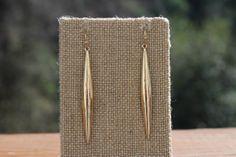 Peach Roots - Puffed Gold Bar Earrings, $7.50 (http://peachroots.com/puffed-gold-bar-earrings/)