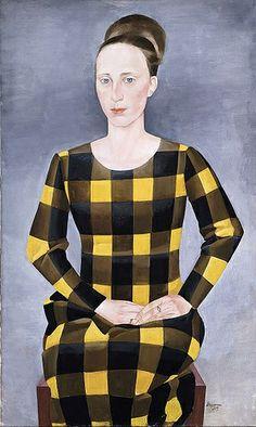 'The Wife of the Artist' (1925) by German artist Heinrich Stegemann (1888-1945) source: art in Hamburg in the 1920s.