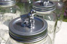 DIY Metallic Animal Mason Jars