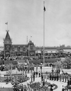The opening of Disneyland, California, July 1955.