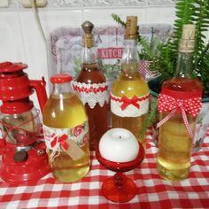 Hot Sauce Bottles, Christmas Ornaments, Holiday Decor, Food, Home Decor, Stuff Stuff, Liqueurs, Decoration Home, Room Decor