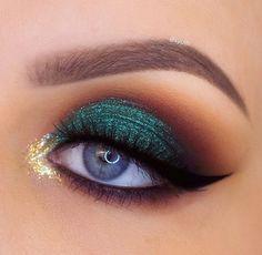 Gorgeous Makeup: Tips and Tricks With Eye Makeup and Eyeshadow – Makeup Design Ideas Black Eye Makeup, Colorful Eye Makeup, Makeup For Green Eyes, Natural Eye Makeup, Eye Makeup Tips, Smokey Eye Makeup, Makeup Goals, Skin Makeup, Makeup Inspo