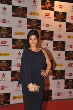 Zarine Khan at Big Star Entertainment Awards 2012.