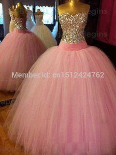 Free shipping vestido de 15 anos de debutante PINK quinceanera dresses 2016 masquerade ball gowns vestido 15 anos festa STOCK