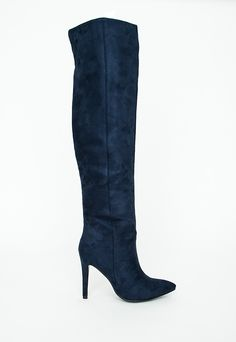 9ce89eace9c Pascaputre Suede Knee-High Boot Navy in 2019