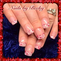 Nails-by-Becky-red-white-flowers-lace-glitter-sparkle