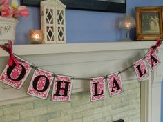 Bridal Shower Decorations-Ooh La La Banner-Lingerie Party Sign or Bachelorette Party Banner Can Be Customized in your Shower Colors