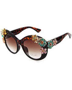 24246f3c519 Adewu Women s Flower Sunglasses With Luxury Butterfly Flower Sunglasses