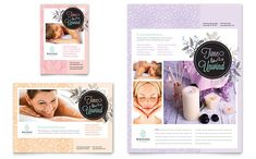 Flyer and Ad template designs for a Spa by StockLayouts.com