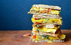 "Sandwich #264–""Deadlines and Day Trips"" Egg Frittata Sandwiches"