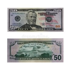 Fifty Dollars Bill With Path Stock Image - Image of america, clipping: 642889 Money Template, Bill Template, Id Card Template, Templates, Fake Dollar Bill, Twenty Dollar Bill, Us Currency Bills, Fake Money Printable, Birth Certificate Template