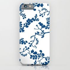 Blue Blossom iPhone & iPod Case