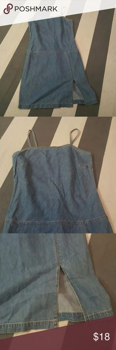 Tommy Hilfiger 10 denim dress size 10 no rips tears or stains  worn twice slit front Tommy Hilfiger Dresses